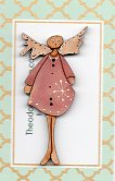 The Pink Angel  button 6cm ** Angels due in thsi week)
