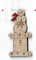 Thread winder Snowman