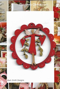 Everyday Red Angel red scalloped frame decoration