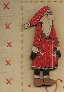 Christmas Santa Button ( trolley santa )